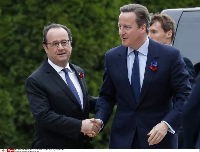 Le chef de l'État a également retrouvé David Cameron