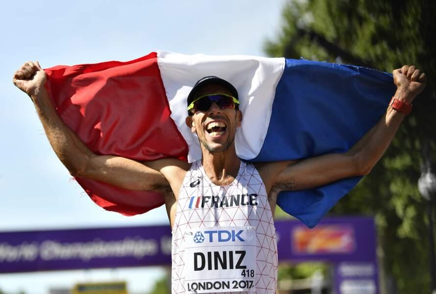 Yohann Diniz a remporté la médaille d'or en 50 km marche