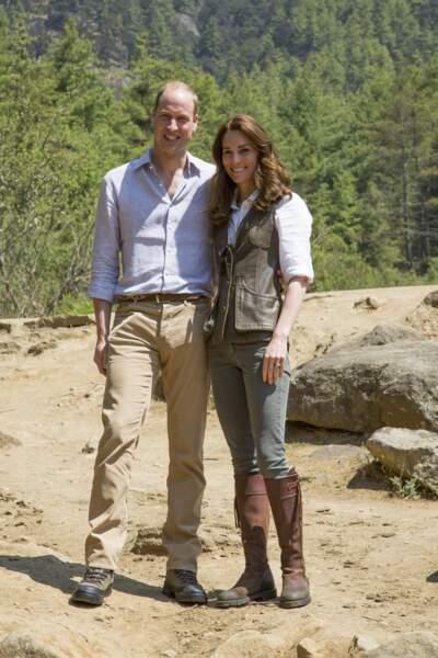 William et Kate lors de leur voyage au Bhoutan, le 15 avril 2016