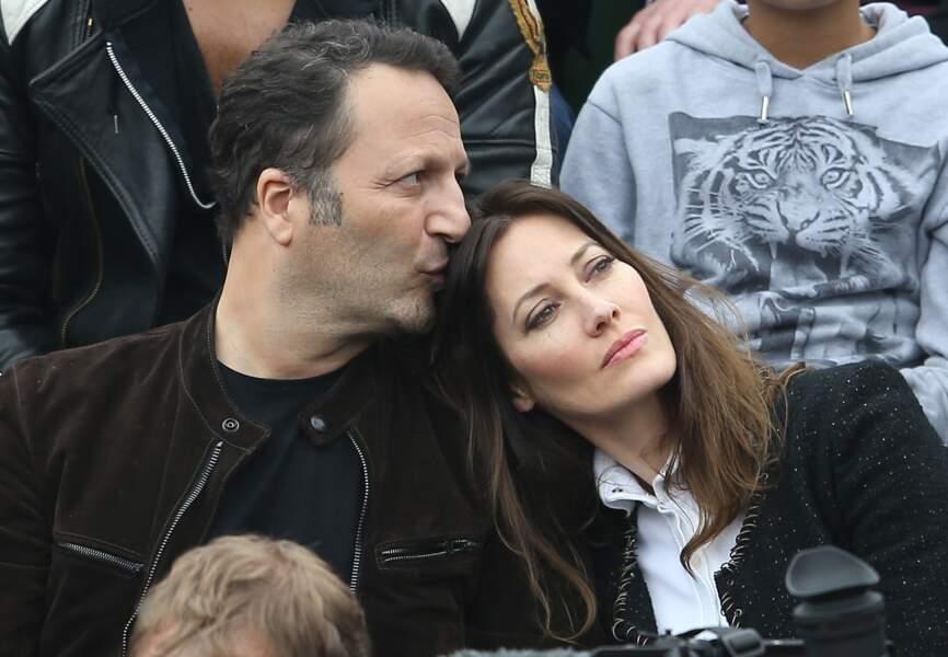 Arthur et son actuelle compagne Mareva Galanter lors de la finale homme de Roland Garros en juin 2016.