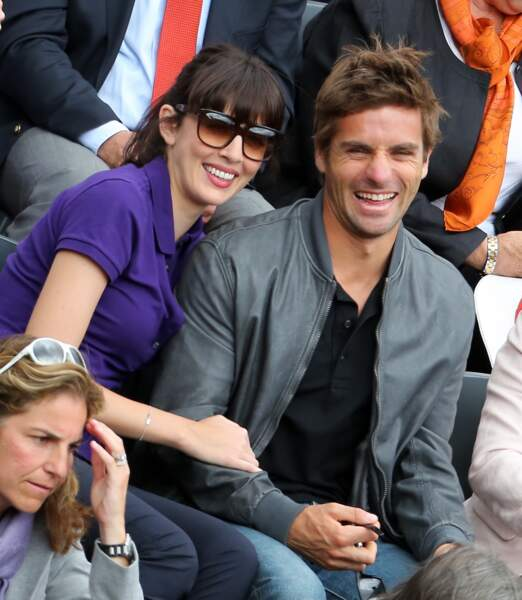 Arnaud Clément et Nolwenn Leroy à Roland Garros, en 2012