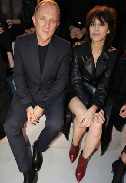 Charlotte Gainsbourg et François-Henri Pinault au premier rang du défilé Yves Saint Laurent, mardi 26 septembre.