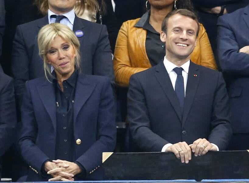 Emmanuel et Brigitte Macron assistaient à la finale du Top 14 ce samedi