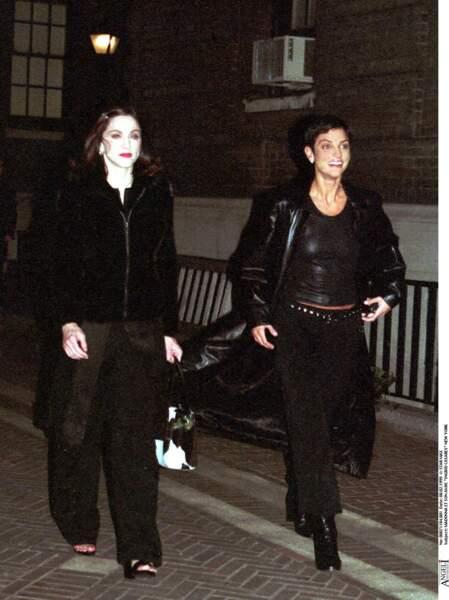 Madonna et Ingrid Casares à New York en 1999