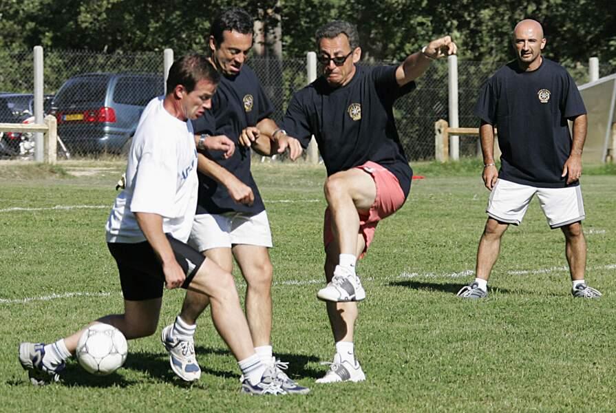 Il y a dix ans, Nicolas Sarkozy partageait un match avec son fils Louis mais aussi Pascal Obispo à Arcachon
