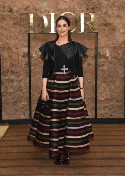 L'actrice française Amira Casar mélange le bohème et le rock pour le défilé Croisière 2020 Dior à Marrakech