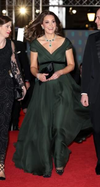Kate Middleton et sa leçon d'élégance sur le tapis rouge des BAFTA 2018