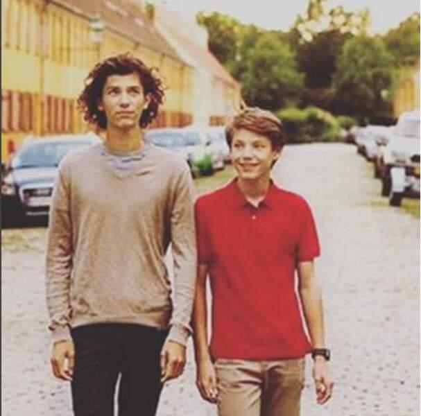 Les princes Nikolaï, 17 ans,  et Felix de Danemark, 14 ans