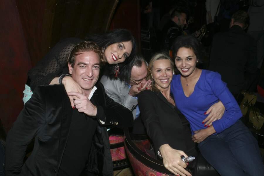 Ludovic Chancel, sa femme Sylvie Ortega Munos, Philippe Lavil, la compagne de Smaïn, Sid, et Saïda Jawad
