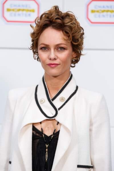 Vanessa Paradis au défilé Chanel le 4 mars 2014