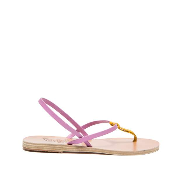 Sandales en cuir Dorothea, 150 € (Ancient greek sandals chez 58m.fr)
