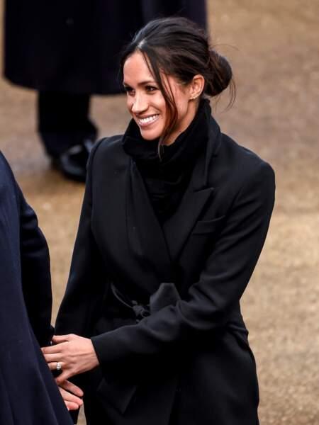 Le prince Harry et sa fiancée Meghan Markle visitent le château de Cardiff, Royaume Uni, le 18 janvier 2018