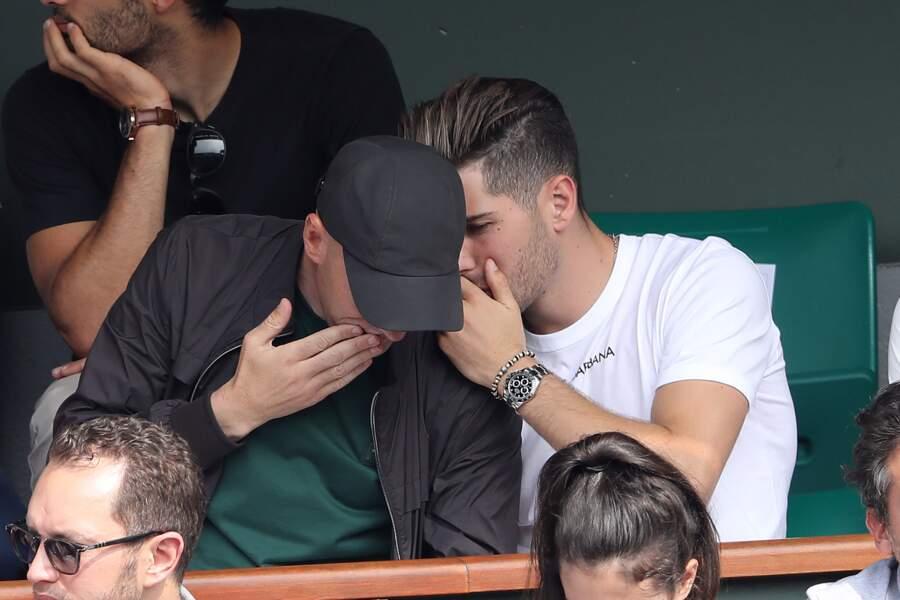 Zinedine Zidane et Luca Zidane à Roland-Garros