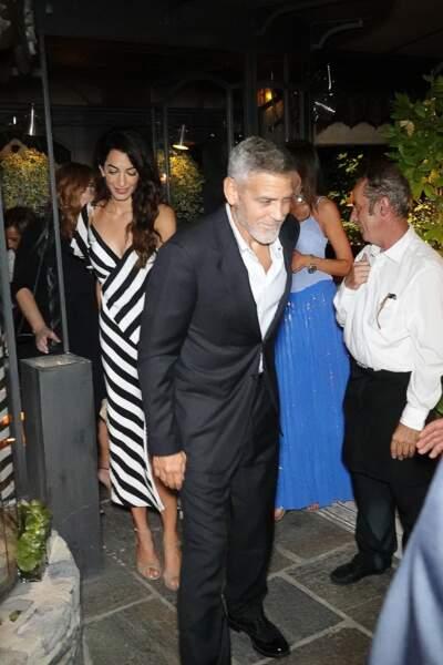 George Clooney, très en forme après son accident pour une sortie en amoureux avec Amal