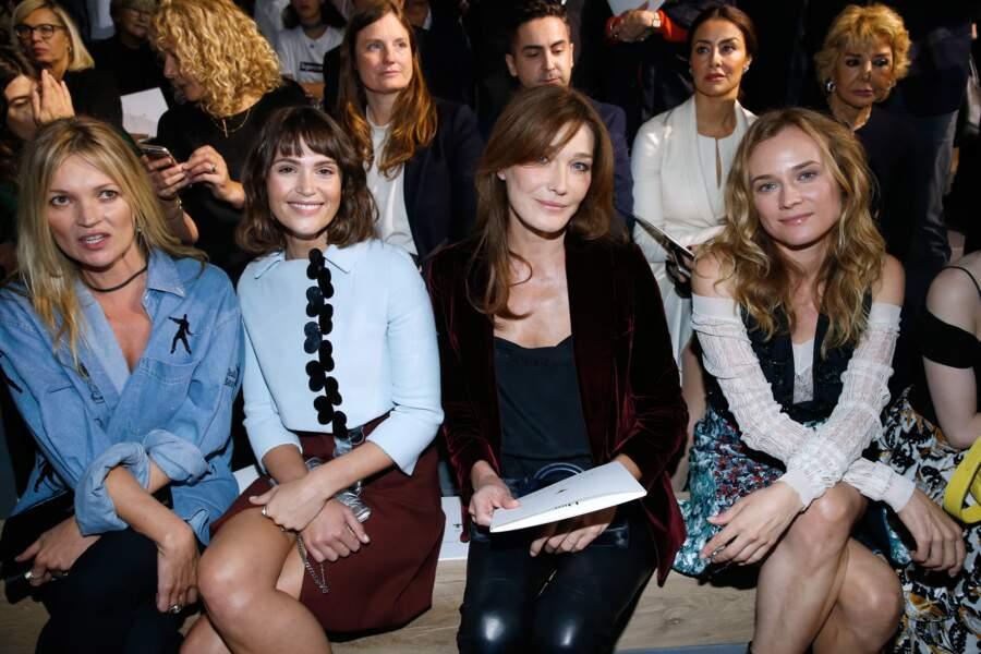 Kate Moss, Gemma Arterton, Carla Bruni et Diane Kruger