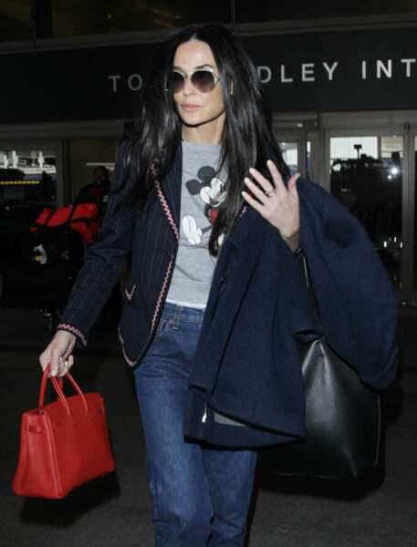 Demi Moore à l'aéroport de Los Angeles en Mai 2016