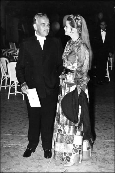 Rainier de Monaco et la princesse lors d'un gala
