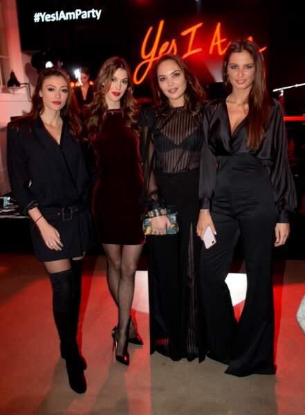 Rachel Legrain-Trapani , Iris Mittenaere  Valérie Bègue et Malika Ménard