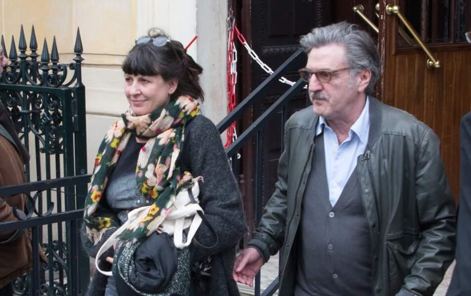 Daniel Auteuil et sa femme Aude Ambroggi en avril 2018