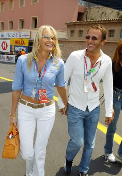 Arthur et Estelle Lefébure au Grand Prix de formule 1 de Monaco en juin 2003.
