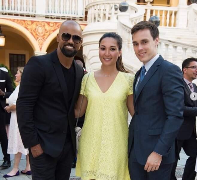 Shemar Moore, Louis Ducruet et Marie Chevallier le 19 juin 2018