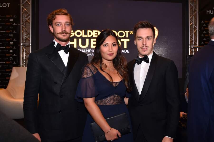 Pierre Casiraghi, Louis Ducruet et sa fiancée Marie Chevallier – 15ème édition des Golden Foot Hublot Award 2017
