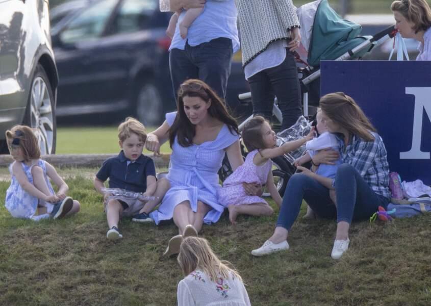 La princesse Charlotte excitée