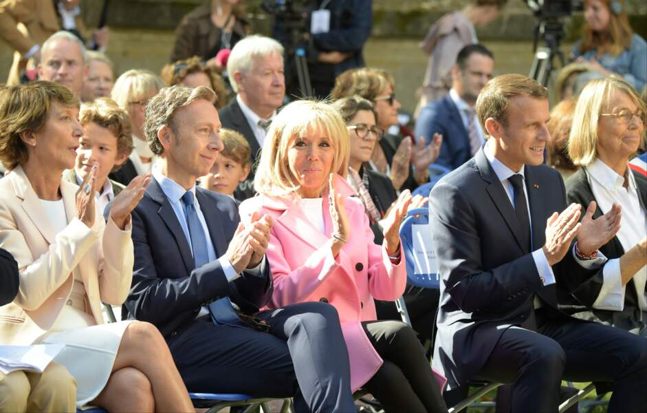 Chic, Brigitte Macron participe aux Journées Européennes du Patrimoine 2018.
