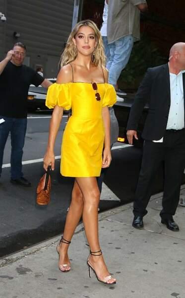 Sistine Stallone en route pour la promotion du film auprès de l'émission Good Morning America
