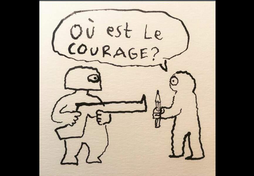Inès de la Fressange Retweetant un dessin de Joan Sfarr