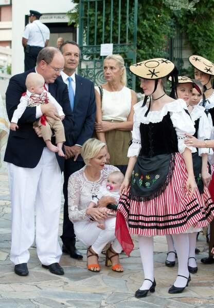 La famille princière, lors des festivités ce samedi