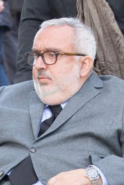 Dominique Farrugia, à l'enterrement de Philippe Gildas, au cimetière du Père-Lachaise, à Paris, le 5 novembre 2018.