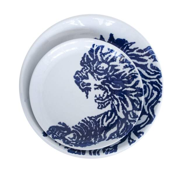 "Assiettes ""Jungle"", design Vincent Collin, 21€50, virebent.com"