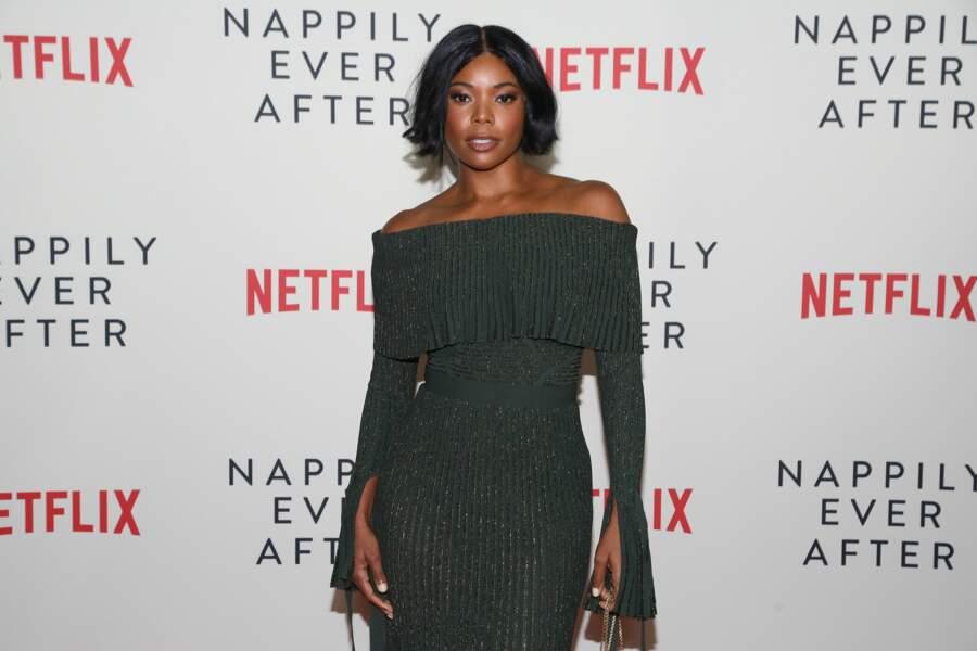 La comédienne Gabrielle Union, 46 ans depuis le mois d'octobre 2018