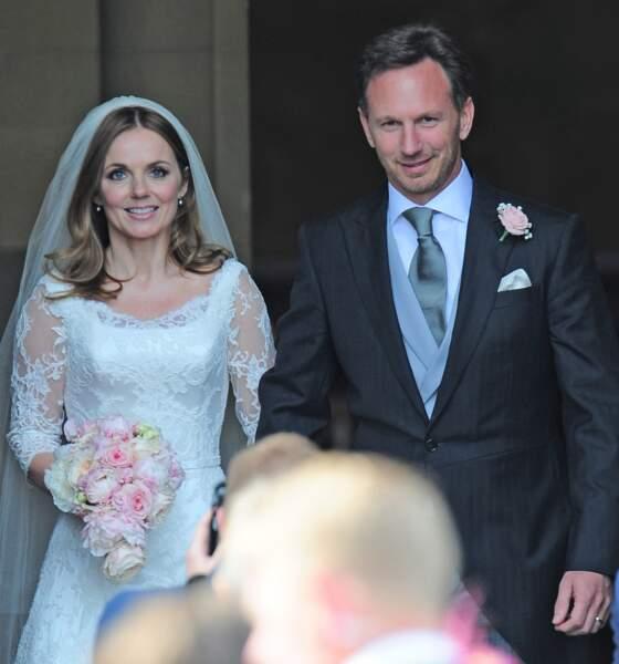 Geri Halliwell a enfin épousé son compagnon Christian Horner au moi de mai