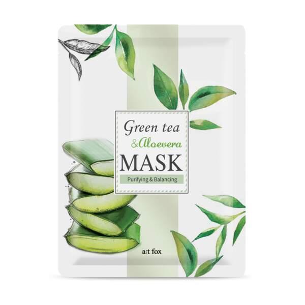 Green Tea & Aloe Vera Mask de at fox, 3,50 € le masque