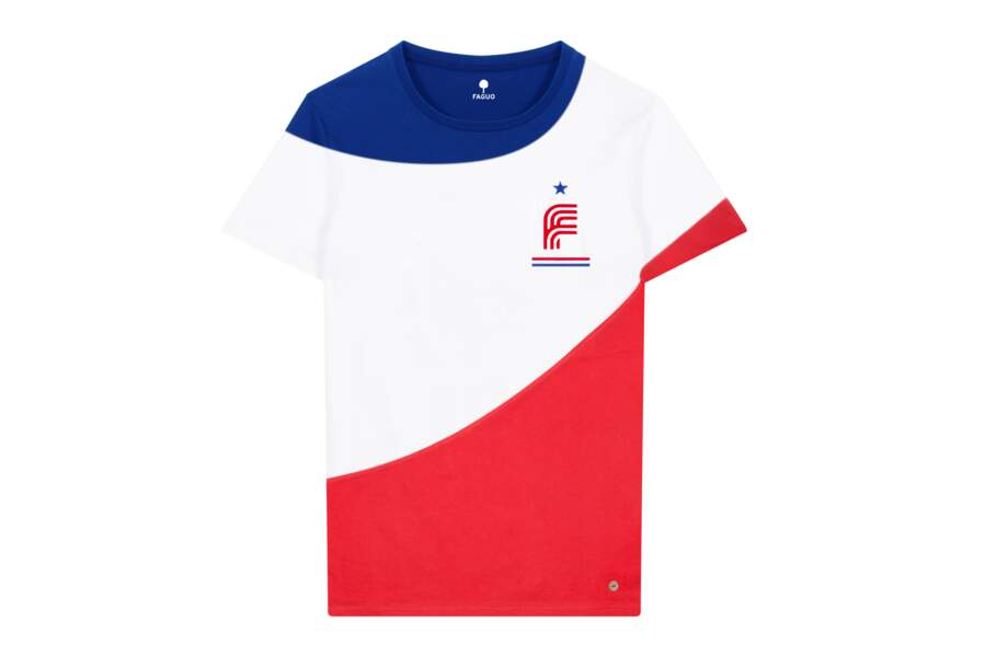 T-shirt de la collection capsule tricolore F98 de Faguo