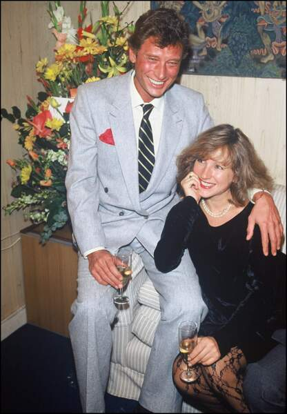Johnny Hallyday et Nathalie Baye en 1983