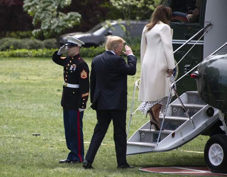 Le look de Melania Trump rappelle celui de Kate Middleton