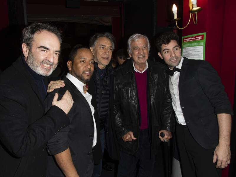 Trophées du Bien-Être : Jean-Paul Belmondo avec Bruno Solo, Indiaye Zami, Richard Berry et Anthony Figueiredo