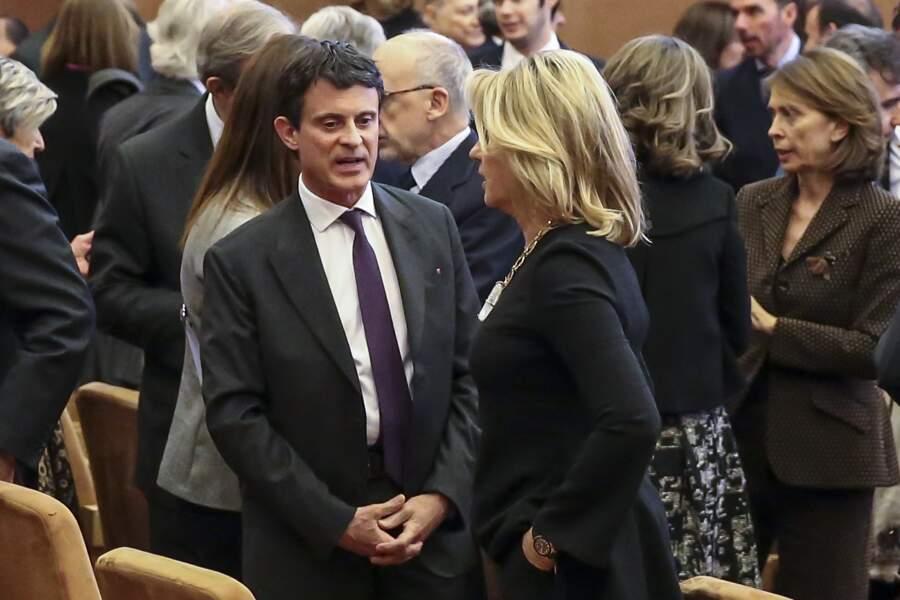 Manuel Valls et Susana Gallardoen pleine conversation