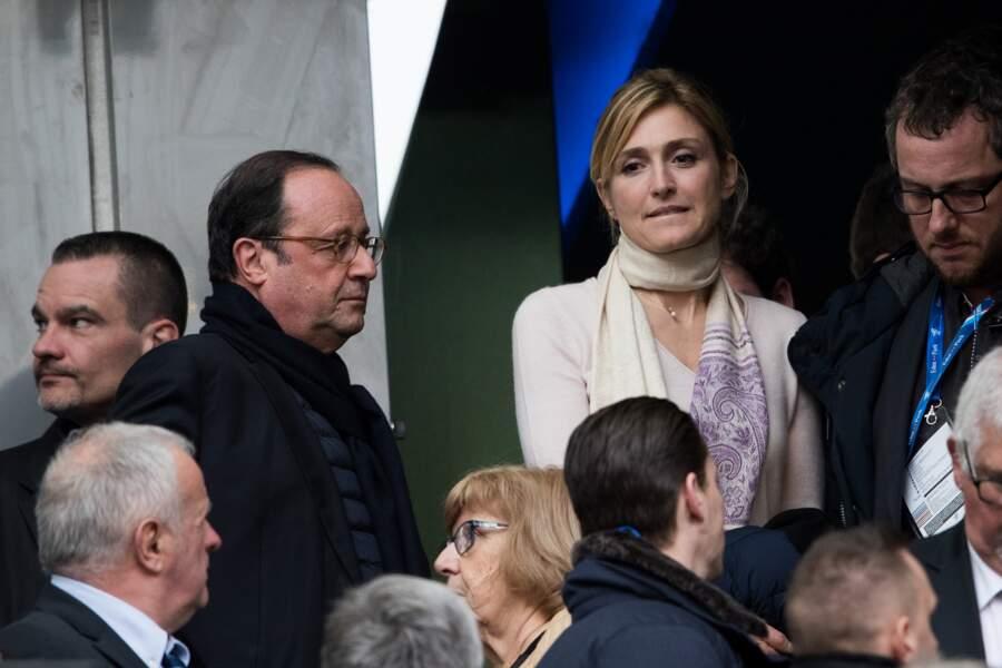 Julie Gayet et l'ancien président au Stade de France