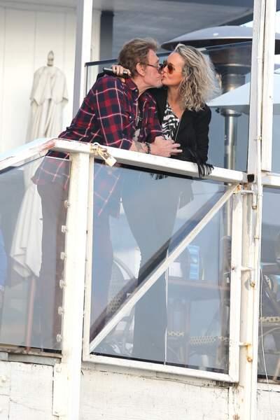 Johnny et Laeticia Hallyday au temps du bonheur californien, dans le quartier de Pacific Palisades en janvier 2014