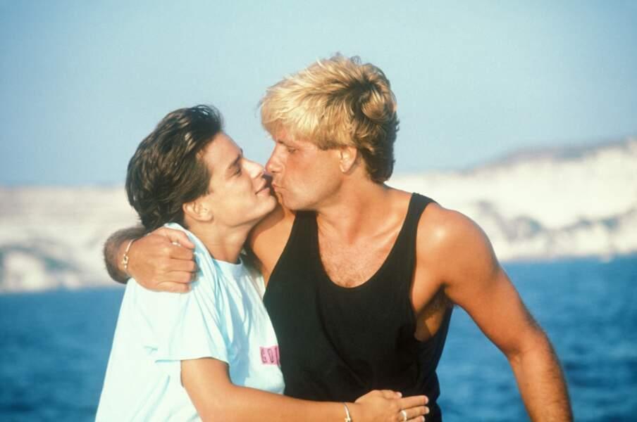 Stéphanie de Monaco et son compagnon Mario Oliver à Monaco en 1987