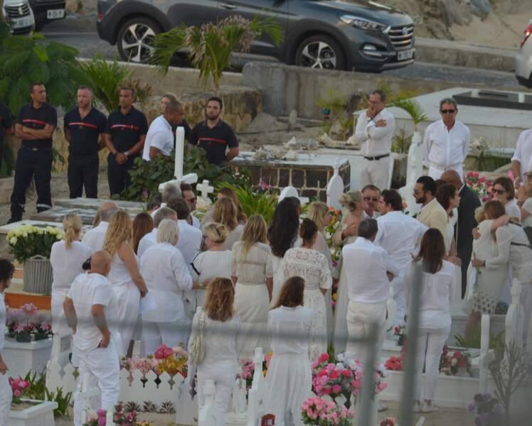 Obsèques de Johnny Hallyday au cimetiere Lorient de St Barth