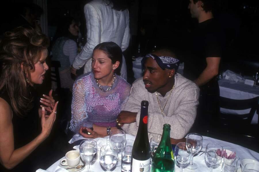 Madonna et Tupac Shakur, en 1994 à New York