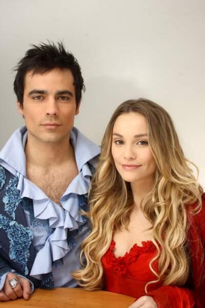 Damien Sargue et sa première épouse Joy Esther en 2010