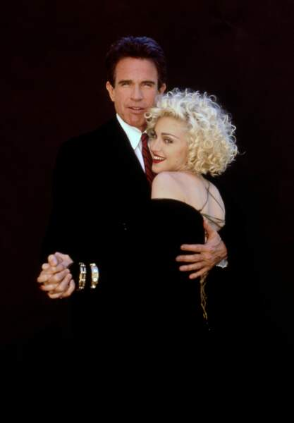 "Madonna et Warren Beatty dans le film ""Dick Tracy"" en 1990"
