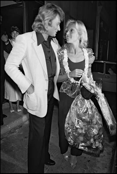 En 1979 à Paris, lors de la soirée d'anniversaire des 36 ans de Johnny