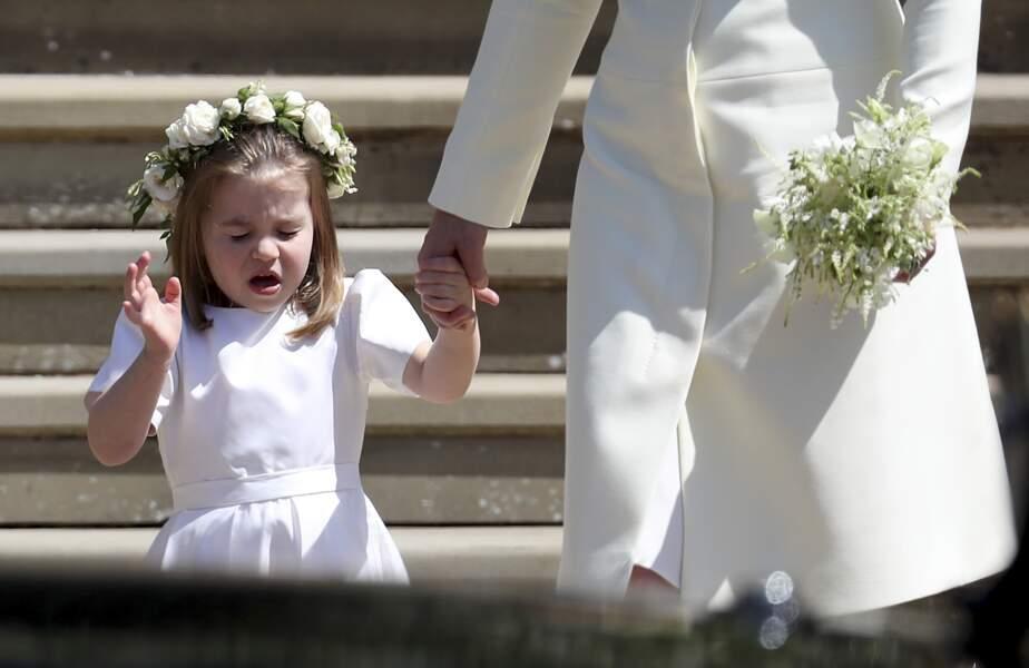 Une grimace de la princesse Charlotte
